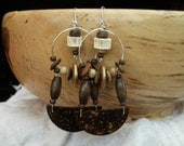 Coco and wood african earrings