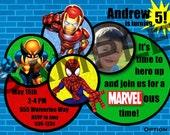 Superhero Squad Birthday Invitations 5 Options Available - Digital File