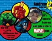 Marvel Avengers Birthday Party Invitation - Digital File