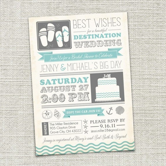 destination wedding invitations bridal shower invitation destination wedding 3505