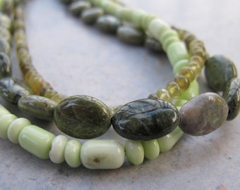 Lemon Sorbet..... natural stone bead necklace
