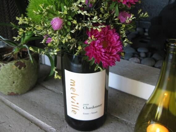 Melville Wine Bottle Vase/Candle Holder