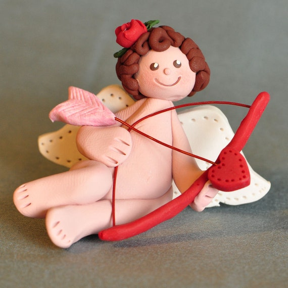 Clay Valentine Cupid with Bow
