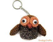 Hand-made amigurumi key chain / owl key chain
