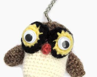 Hand-made amigurumi key chain / owl key chain