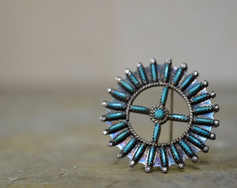 60s Zuni Needle Point Necklace or Pin