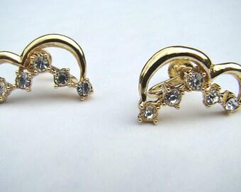 Ladies Gold Vintage Half Figure Eight Earrings