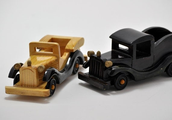 Handmade Wooden Toy Cars - Set of 2