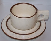 Fabrik Seattle Stoneware Pottery Cup and Saucer Set