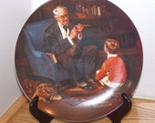 "Vintage, Collectible Norman Rockwell ""The Tycoon"" Wall Decor Plate"