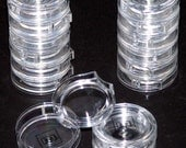 Assorted Acrylic Clear Articulated and Colored/Clear Lidded Bead or Small Item Containers