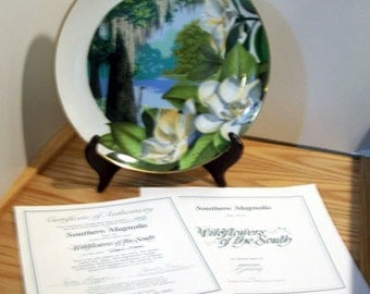 Royal Windsor Wildflowers of the Southern Magnolia Limited Edition Collector Plate