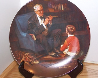 """Vintage, Collectible Norman Rockwell """"The Tycoon"""" Wall Decor Plate"""
