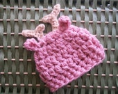 What a Deer, Sweet Baby Hat - Boys or Girls, Shown in PINK, Avail in Any Color  -  Many Sizes - Preemie, Newborn, Infant