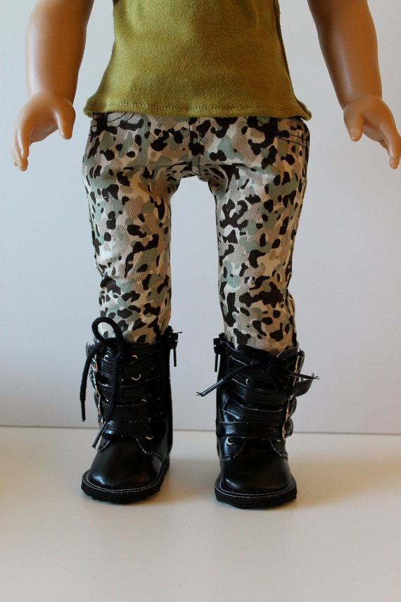 Camouflage Skinny Jeans for American Girl or Other 18 Inch Doll