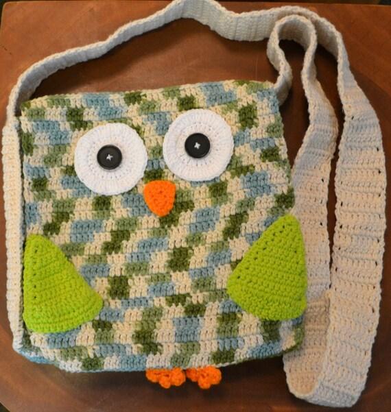 Crochet Owl Messenger Purse