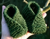 Forest Green Wrap Slippers