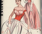 9635 Butterick, long or short evening dress, late 1950's or early 1960's