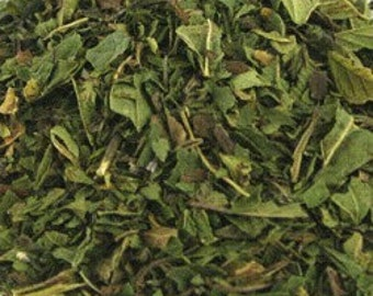 1 Cup Peppermint leaf, cut and sifted, Organic, naturally dried, makes delicious tea
