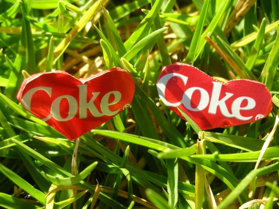 I Love Coke - Recycled Earrings