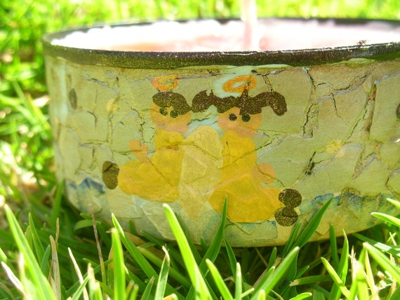 Angels in a Cloud - Recycled Canned Candle