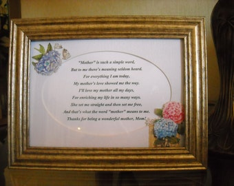 Framed Messages for Moms, Grandmothers or Special Friends