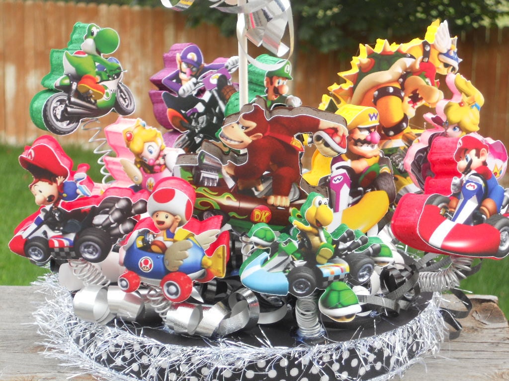 Custom Listing Silvia Mario Kart Cake Topper Birthday Party