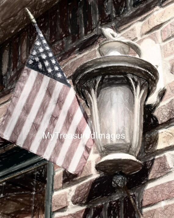 American flag 11X14 fine art photograph