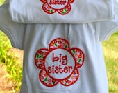 Big Sister/Little Sister Applique Shirt Set