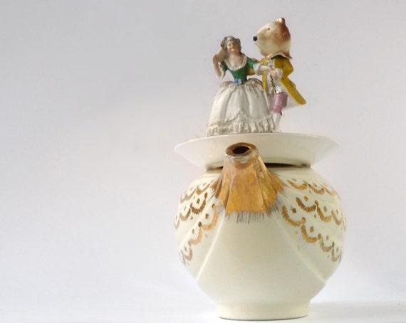 Fairytale China Assemblage, repurposed Hall Aladdin Teapot