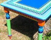 SOLD sample of CUSTOM WORK- Kitchen Table- Custom Hand Painted Furniture Made to order