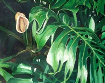 "Original Acrylic on Canvas Painting ""Waipeo Green"""