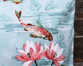 Decorative Pillow Cover, Koi Pond Pattern
