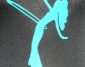 Hula Hoop/Hoopdance/Hooper girl screenprinted women's tank top black