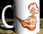 Guitar Bones Mariachi printed mug