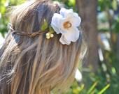 Flower Crown, Bridal Crown, Wedding Headpiece,  Flower Halo, Bohemian Hair, Woodland Hair