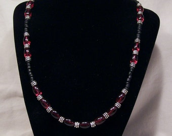 Neo Victorian Crimson Necklace