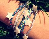 Beach Bracelets de Plage / Turquoise & Rose