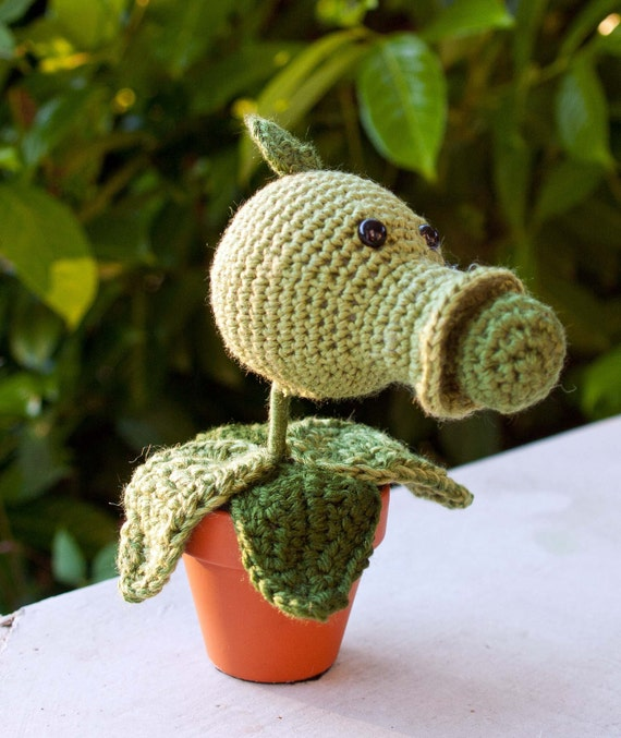 Custom listing for Jacob Amigurumi Pea Shooter (inspired by Plants vs Zombies)
