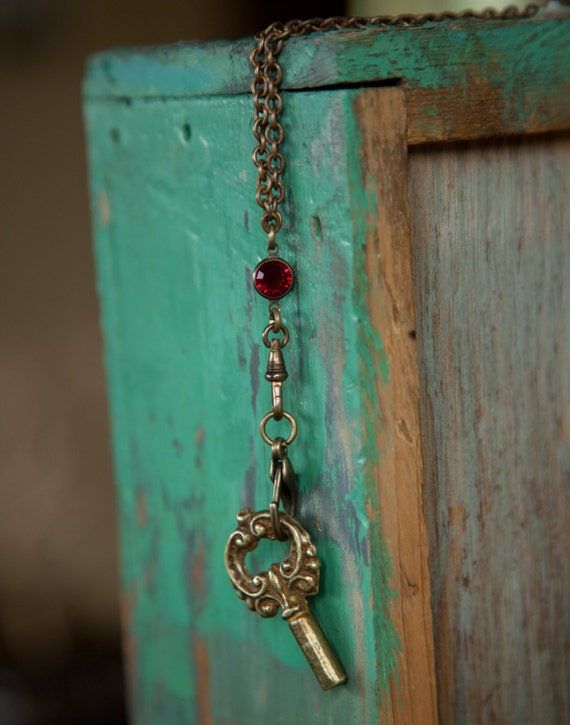 Necklace No. 20 with Hand-Sourced Vintage Fleurish Key