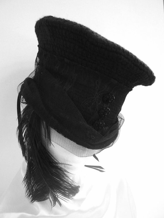 Mad Hatter Victorian Riding Hat Lady Louis's