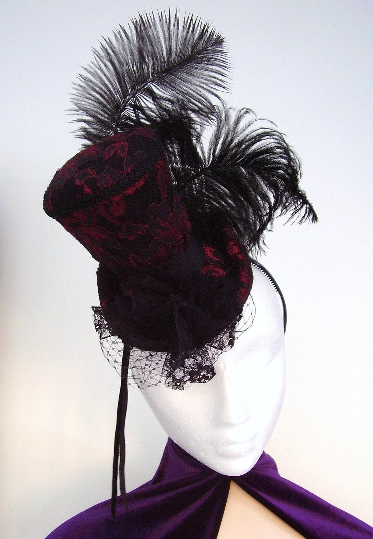 Victorian Mini Hat Fascinator Burlesque