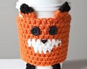 Handmade Crochet Fox Cup Cozy
