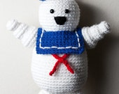 Crocheted Mr Stay Puft Marshmallow Man Amigurumi Plush from Ghostbusters
