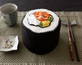 Crochet Philadelphia Roll Sushi Toilet Paper Cozy Cover