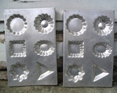 Set of 2 Vintage Cookie, Chocolate, Candy Mold Sheet