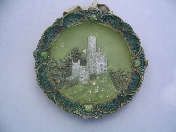 Wonderful French 1900's Baked Earth Clay Medal, wall hanging