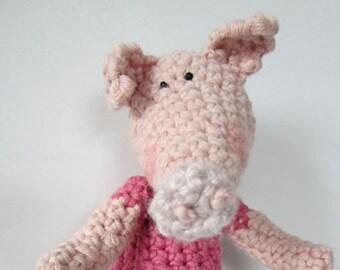 Crochet Pattern for Peppermint Pig