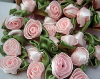 Roses Satin Pink 10 pcs