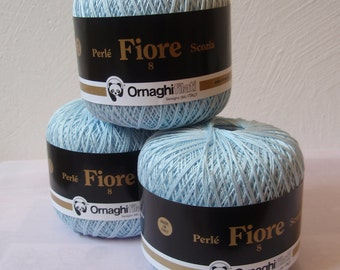 Cotton Thread for Knitting and Crochet # 8 Pale Blue gr.200